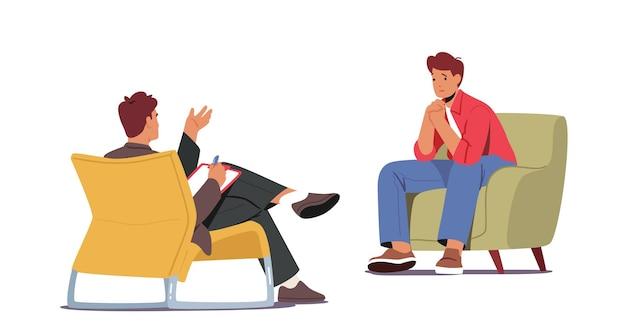 Sessão de psiquiatra em clínica de saúde mental