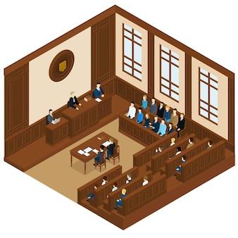 Sessão de tribunal isométrica