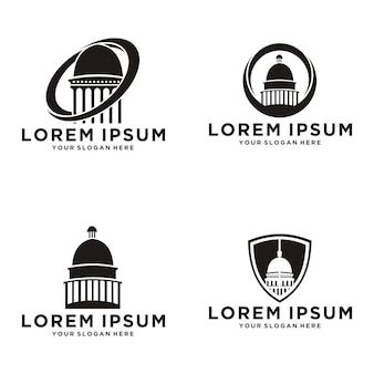 Set collection capitol dome vector
