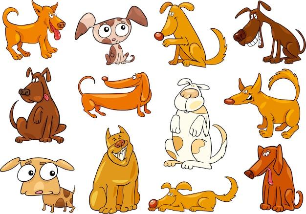 Set de cachorros de desenhos animados