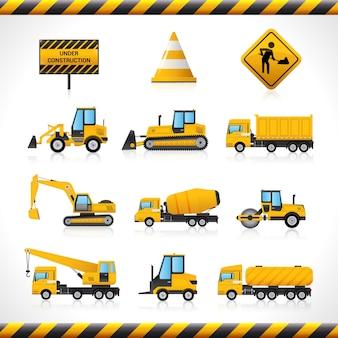 Set de máquinas de construção