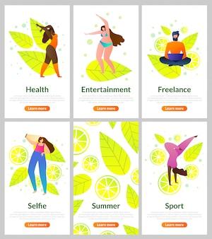 Set flat card como passar o verão, entretenimento