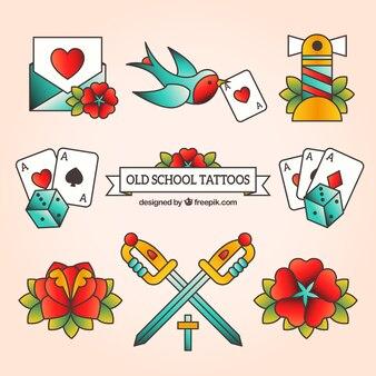 Set tatuagem da velha escola