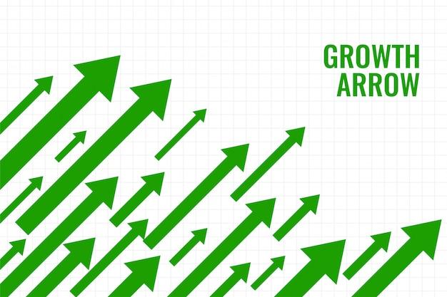 Seta de crescimento de negócios mostrando tendência ascendente