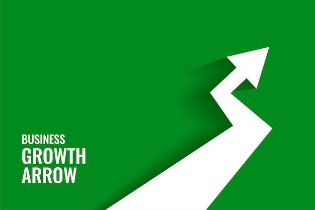 Seta de crescimento verde mostrando fundo de tendência ascendente
