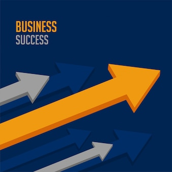 Seta de negócios líder para o sucesso da empresa