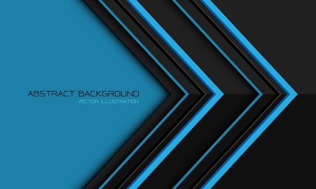 Seta direcional geométrica metálica cinza azul abstrata com design de espaço em branco fundo futurista moderno