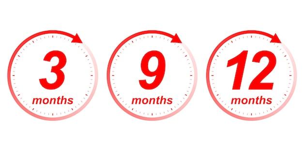 Seta do relógio de meses