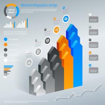 Seta escada infográficos
