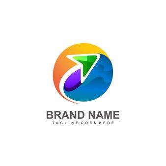Seta no design do logotipo de viagens