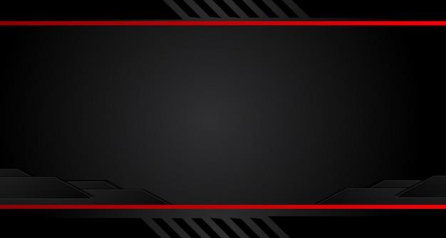 Seta vermelha abstrata no fundo cinzento escuro