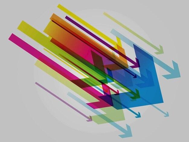 Setas coloridas apontar template gráficos
