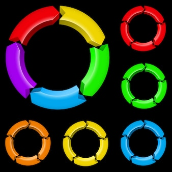 Setas coloridas