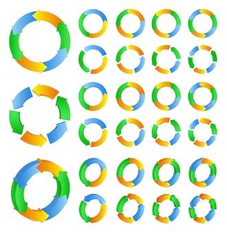 Setas do círculo