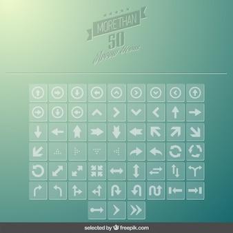 Setas modernas icons collection