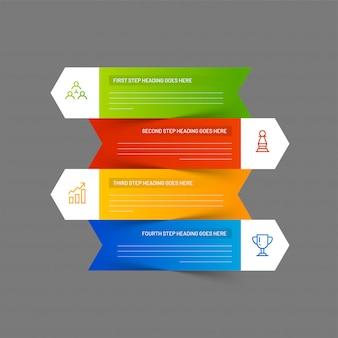 Setas modernas infográfico