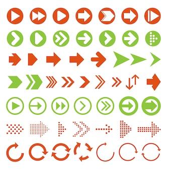Setas vector coleção com estilo elegante