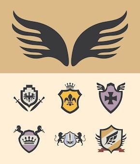 Sete escudos de armas