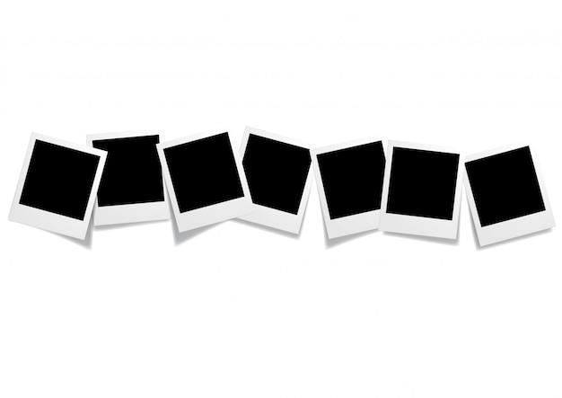 Sete fotos em branco moldura