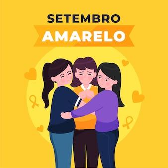 Setembro amarelo com mulheres