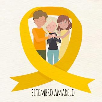 Setembro amarelo com pessoas