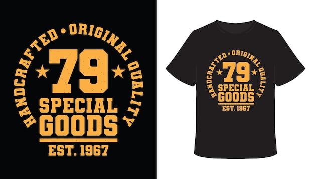 Setenta e nove produtos especiais tipografia design de t-shirt