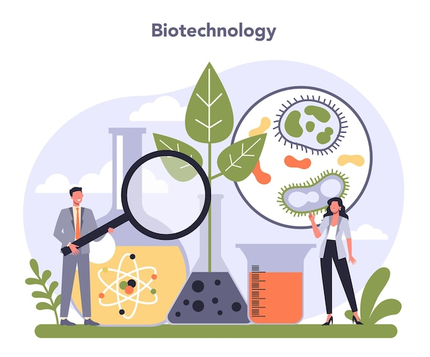 Setor da indústria de biotecnologia da economia