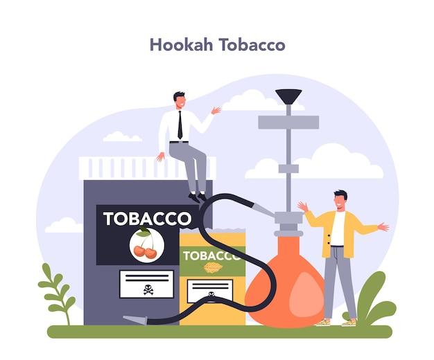 Setor da indústria de produção de tabaco da economia fumar produtos