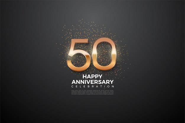 Seu 50º aniversário com números brilhantes