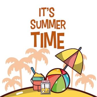 Seu cartão de desenhos animados do horário de verão