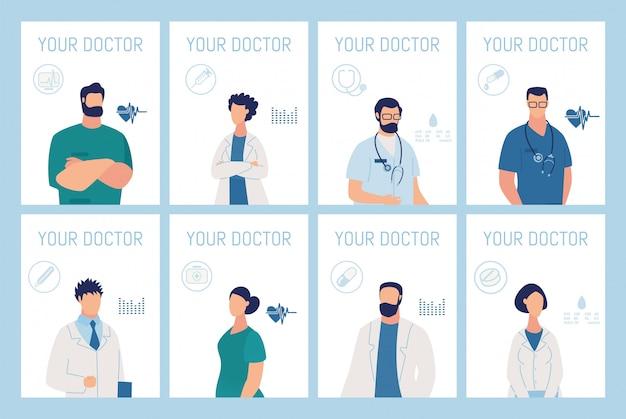 Seu médico apresentação conjunto de cartões de serviço médico