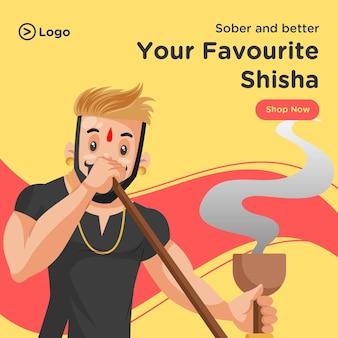 Seu modelo de design de banner shisha favorito