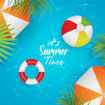 Seu modelo de fundo de horário de verão