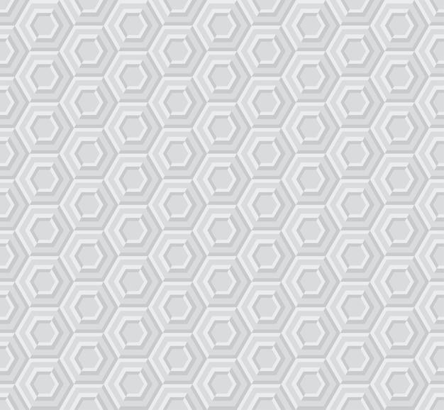 Sexangle light 3d padrão geométrico