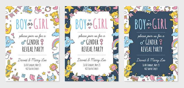 Sexo revela modelo de convite de festa menino ou menina