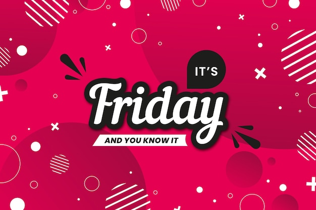 Sexta-feira aproveite seus círculos de fim de semana com linhas de fundo