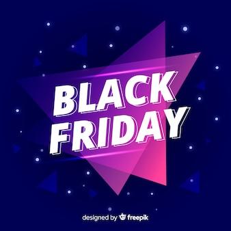 Sexta-feira colorida gradiente preto