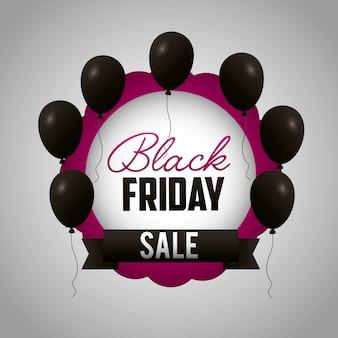 Sexta-feira compras vendas fundo preto