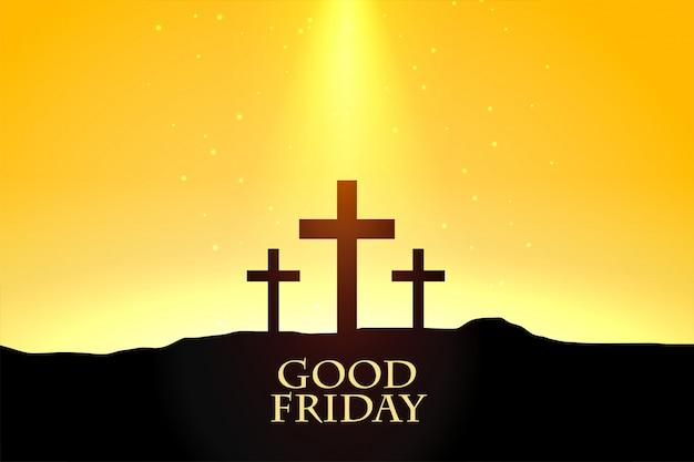 Sexta-feira fundo com design de cena de cruzes