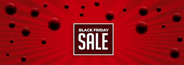 Sexta-feira negra abstrata venda vermelha banner