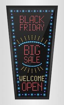 Sexta-feira negra banner de outdoor grande venda led