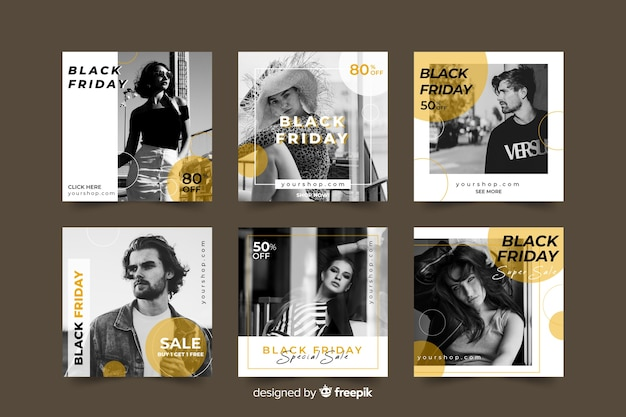 Sexta-feira negra coleção instagram post