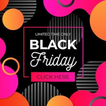Sexta-feira negra colorida com gradiente