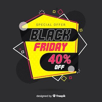 Sexta-feira negra colorida em design plano