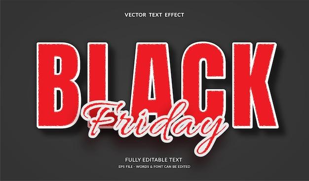 Sexta-feira negra com efeito de texto editável de estilo moderno