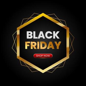 Sexta-feira negra com moldura e botão de comprador