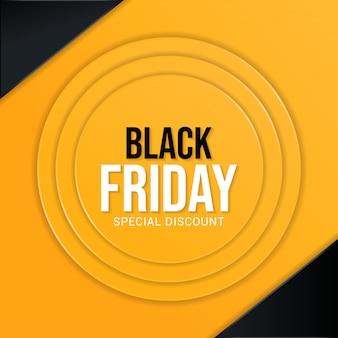 Sexta-feira negra desconto especial banner fundo simples