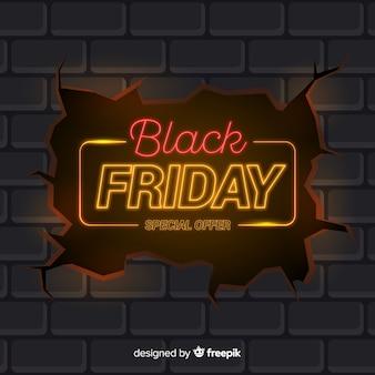 Sexta-feira negra em design de néon