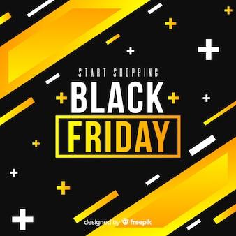 Sexta-feira negra em design plano