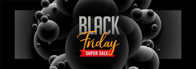 Sexta-feira negra estilo 3d venda banner